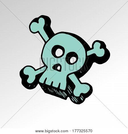 skull vector dead skeleton halloween illustration cartoon