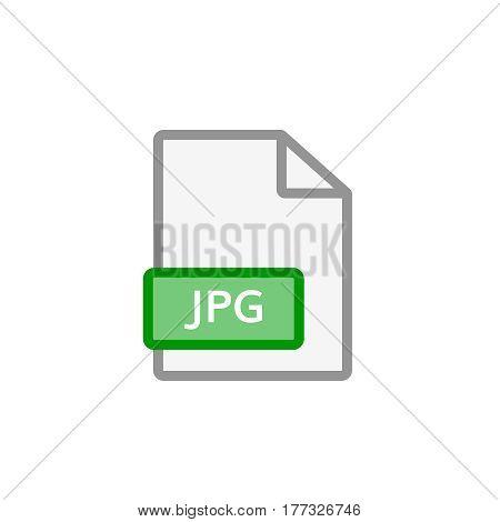jpeg file icon . jpg  format document symbol