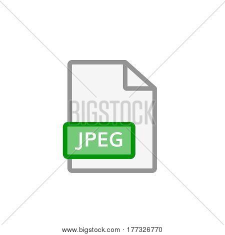 jpeg file icon . jpeg format document symbol
