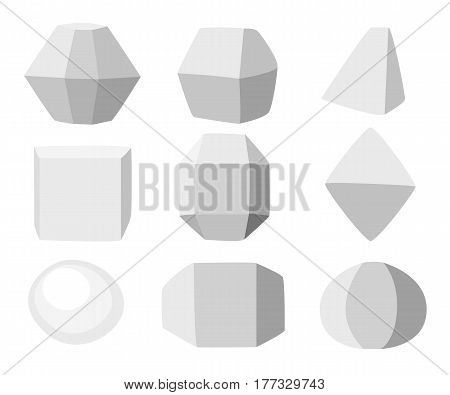 Vector Illustration Rock Stone Cartoon Set Of Different Boulders Natural Sea Spa Rock Material Game