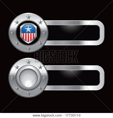 patriot shield metal banners