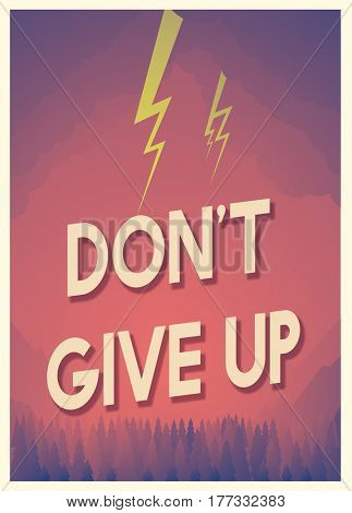 Quote for aspiration and motivation with storm graphic