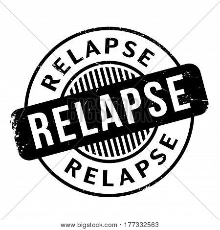 Relapse rubber stamp. Grunge design with dust scratches. Effects can be easily removed for a clean, crisp look. Color is easily changed.