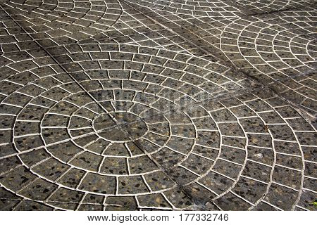 vintage gray tiles floor industrial background photo