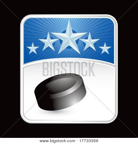 hockey puck blue star backdrop blue star backdrop