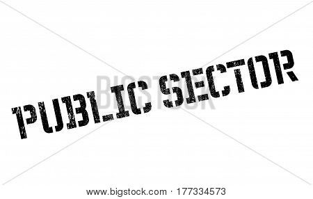 Public Sector rubber stamp. Grunge design with dust scratches. Effects can be easily removed for a clean, crisp look. Color is easily changed.