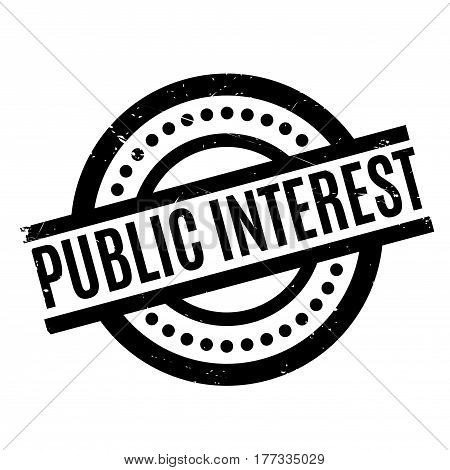 Public Interest rubber stamp. Grunge design with dust scratches. Effects can be easily removed for a clean, crisp look. Color is easily changed.