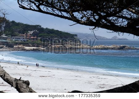 Sunny day in Carmel Beach California United States