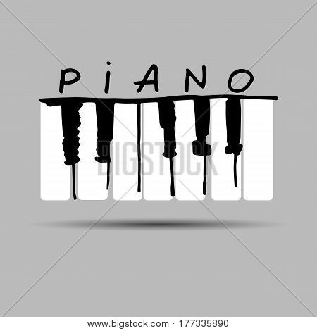 piano, music, musical, vector, illustration, key, instrument, keyboard, sound, octave