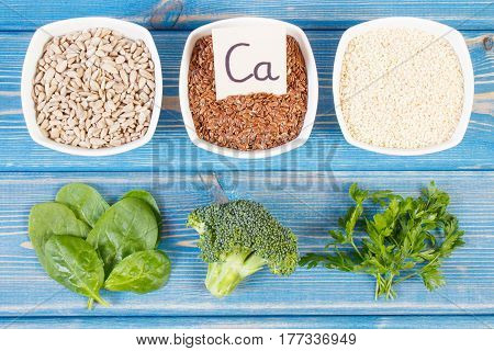 Products And Ingredients Containing Calcium And Dietary Fiber, Healthy Nutrition