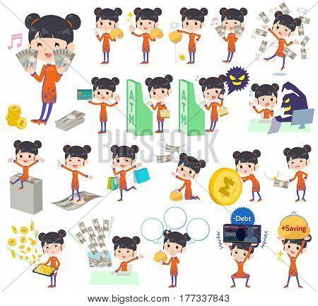 Chinese Ethnic Clothing Woman Money