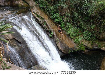 Waterfall in Sana. Rio de Janeiro - Brazil
