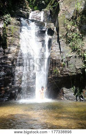 Cachoeira do Chuveiro, Horto - Rio de Janeiro, Brazil