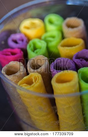 Tong Muan a type of rolled wafer a traditional dessert in Thailand
