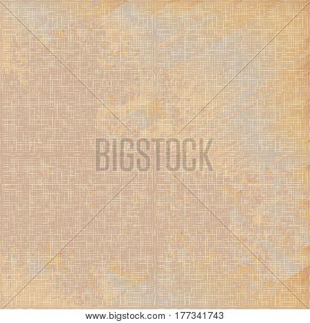Grunge beige linen texture seamless pattern vector. Grey grunge linen fabric textile