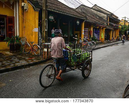 Main Street In Hoi An Ancient Town, Vietnam