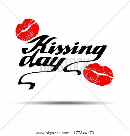 Kissing Day, I love kissing, kiss, valentine, vector, day, love, illustration