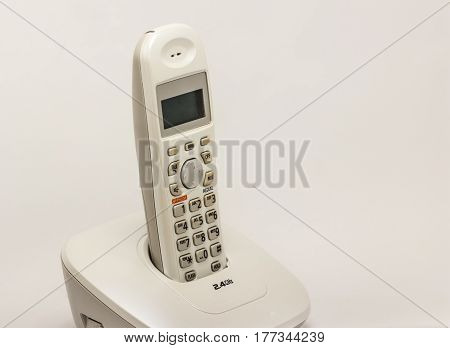 wireless  home phone isolate on white background