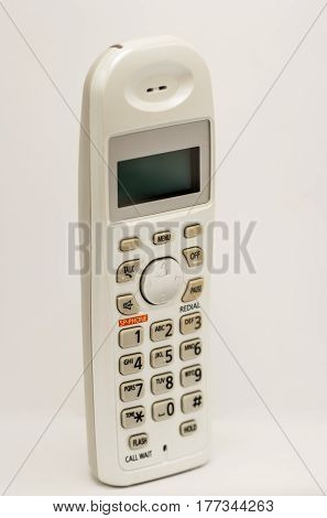 Cordless home phone isolate on white background