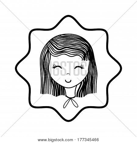 happy woman close ayes, vector illustration design