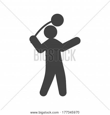 Stadium, hammer, throw icon vector image. Can also be used for olympics. Suitable for mobile apps, web apps and print media.