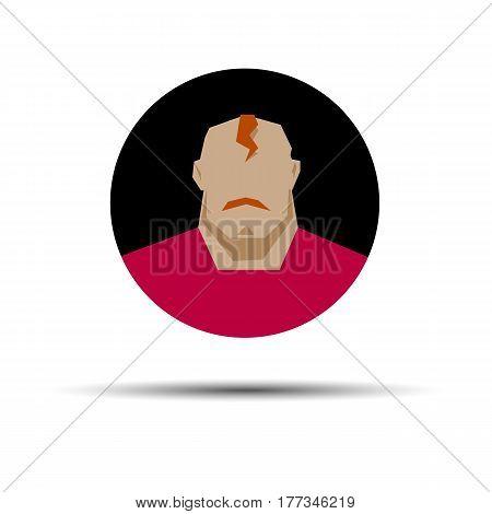 portrait vector male face man head people illustration person silhouette hair fashion