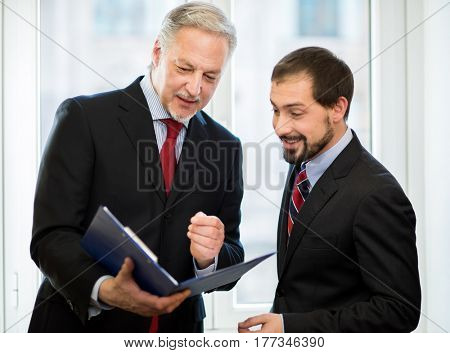 Businesspeople working together