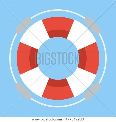 Life buoy on flat design. business concept.