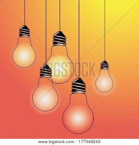 light yellow vector illustration poster black line