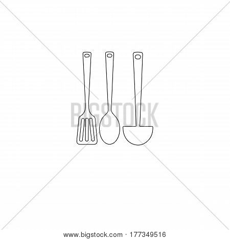kitchen vector illustration spoon ladle cooking tool