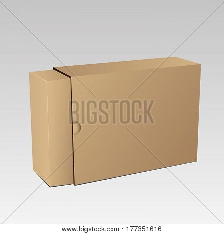 Package Box Mockup For Your Design Eps 10 Vector