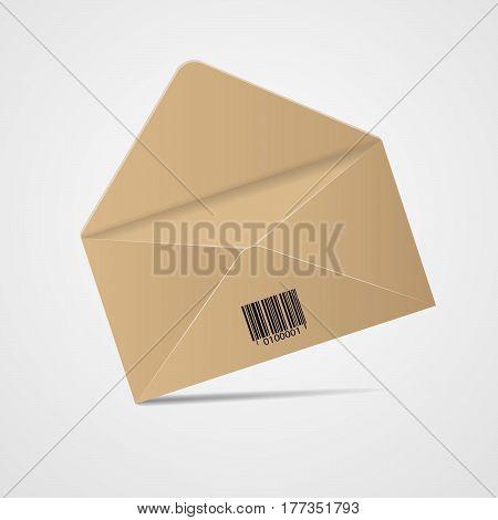 Open Colour Envelope Vector Realistic Mockup Isolatedeps 10