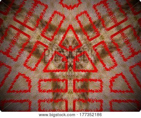 Abstract Extruded Mandala