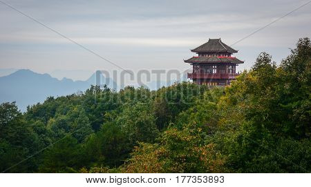 Chinese Pagoda In Zhangjiajie, China