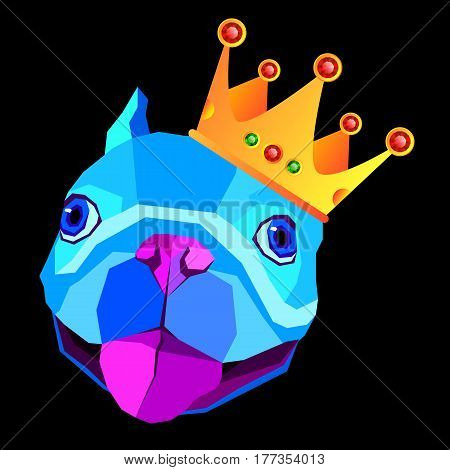 dog, vector, breed, cute, pet, animal, bulldog, french, french bulldog