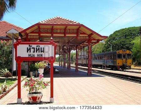 Hua Hin Railway station is a major tourist attraction of Hua Hin Thailand