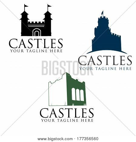 Castle Icon Set for logo, icon, etc