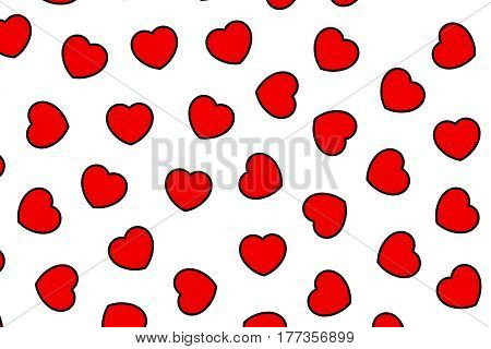 Heart Backgrounds For Saint Valentines Holiday, High Definition Design