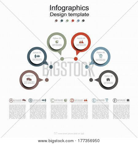 Infographic design template with place for your data. Vector illustration.