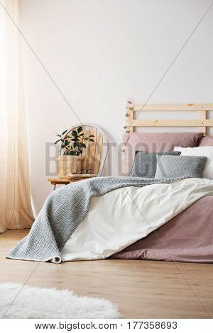 Bed In Light Bedroom