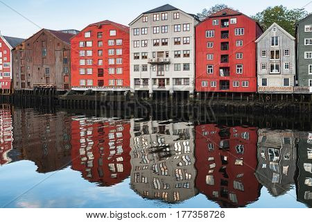 Colorful Traditional Houses, Trondheim