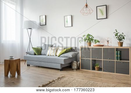 Room With Wooden Side Table