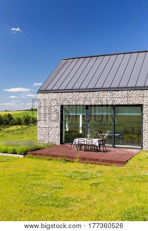 Stone House With Patio