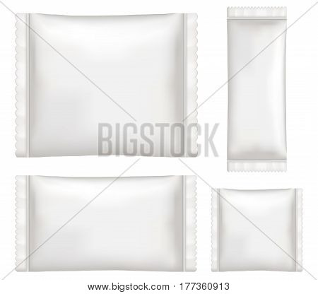 top view of White polystyrene and plastic packaging mockup
