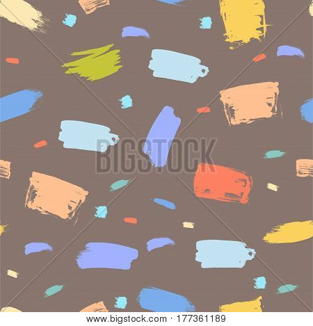 Abstract vector background. Tile with Brush stroke. Hand drawn seamless pattern.