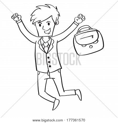 Collection stock of businessman character vector art