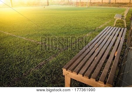 Seats for substitutes  in indoor  futsal pitch,artificial turf