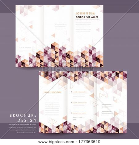 Trendy Tri-fold Template Design