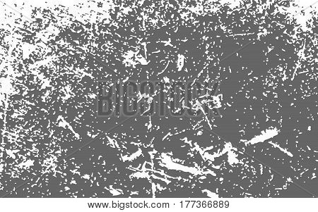 Paint White Color Smeared. White Splashes. Gray Background. Grunge Texture. Vector Illustration