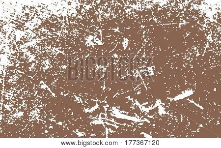 Paint White Color Smeared. White Splashes. Brown Background. Grunge Texture. Vector Illustration